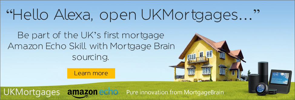 Hello Alexa, open UKMortgages..., Be part of the UK's first mortgage Amazon Echo Skill with Mortgage Brain sourcing.